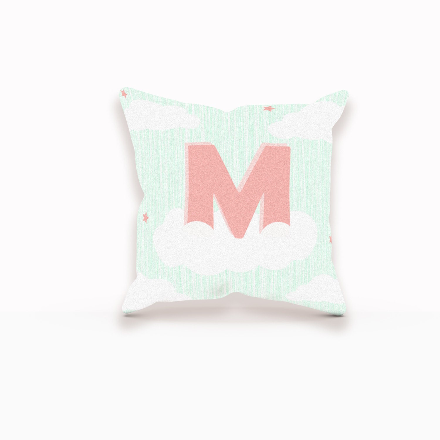 Decorative Pillows With Monogram : Monogram Decorative Pillow Cloud Pillow Cloud Nursery Art