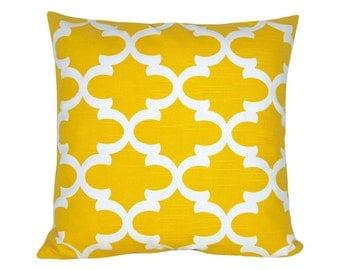 Pillow cushion FYNN 40 x 40 cm yellow white