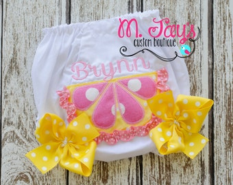 Girls Custom Applique Bloomers with Bows