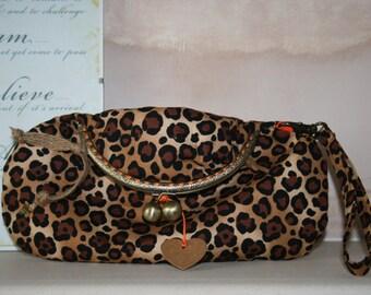 Envelope Clutch Bag - Leopard Print Fold Down Clutch Bag - Envelope Clutch Bag - Evening Clutch Bag - Handmade Clutch Bag