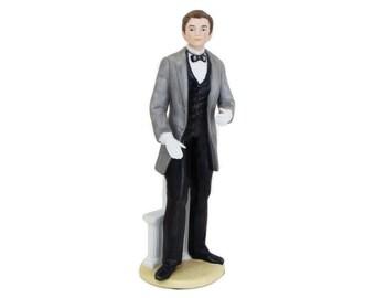 Victorian Gentlemen Groom Porcelain Figurine Man Homco 1440 Home Interiors