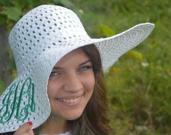 Monogrammed Floppy Sun Hat