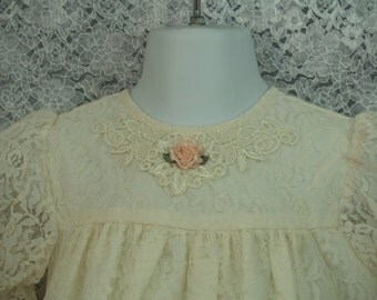 Ivory dress with bloomers Vintage 90s