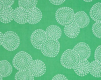 BABY BEDDING - MM Stitch Floral Circle Mint - Stokke Mini, Mini Crib, Pack N Play, 4moms, Bassinet Sheets, Boppy Pillow Cover