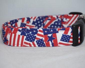 Patriotic Dog Collar Tiny Xs Sm Md Lg XL
