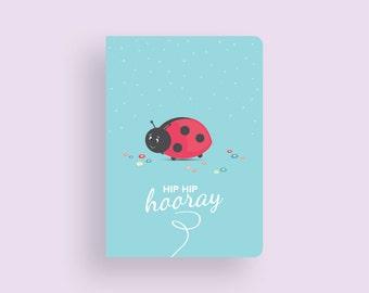 Birthday Card • Little Ladybug by Celebratink • Greeting Card • Green