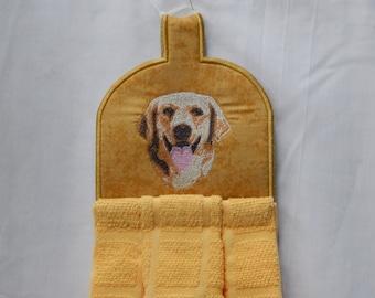 Yellow Lab, Kitchen towel topper