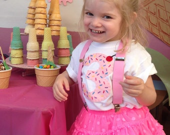 Birthday Shirt Number with Sprinkles-Custom made party shirt perfect for Ice Cream or Cupcake themes