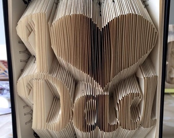 folded book art pattern