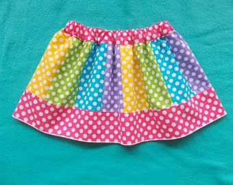 Custom Panel Gore Skirt for Girls 12 Months - 8 Years Choose your Colors and Fabrics