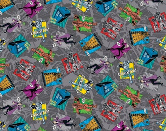 Doctor Who Fabric Madman in a Box Fabric From Springs Creative