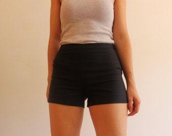 black skinny shorts