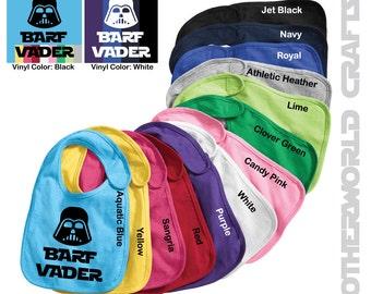 Set of 2 Barf Vader Baby Bibs - Star Wars - Darth Vader