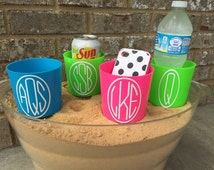 SALE!!! Personalized Beach Spike, Beach Nik – Monogramned Cup Holder – Drink Holder, Fits Cups, Cans, Tumblers - Beach or Lake Must Have