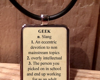 Geek Dictionary Style Definition Necklace