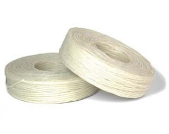 Natural Waxed Linen 50 Yard Spool of 4-ply Thread Cord