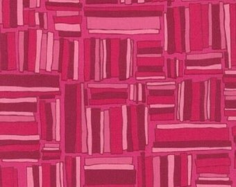SALE!! 1/2 Yard - Blueprint Basics - Fuchsia - AVW-14541-108 - Valori Wells - Robert Kaufman Fabrics - Pink Red Fabric Yardage