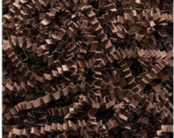 Crinkle Cut/Shred Paper Basket and Party Bag Filler 8 oz pkg Color Chocolate Brown Free Shipping