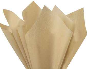 Khaki Tissue Paper 24 Sheets 20 x 30 in. Great for gifts, gift bags, pom pom