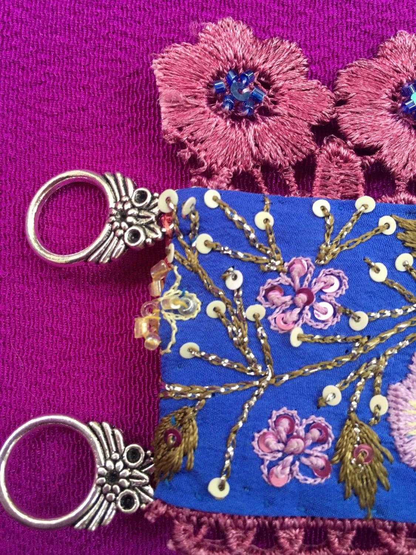 Floral Cuff Embroidered Cuff Lace Cuff Silk Flower Bracelet