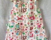 Girls Dress, Woodland Animals Girls Clothing,  Birthday Gift for Girls ,Holiday Gift guide idea
