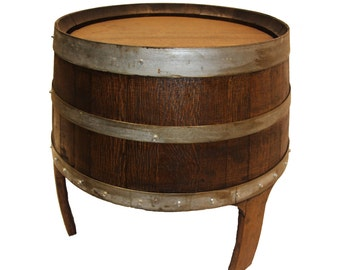 Wine Barrel Side Table, Patio Table, Outdoor Table, End Table, Barrel Art