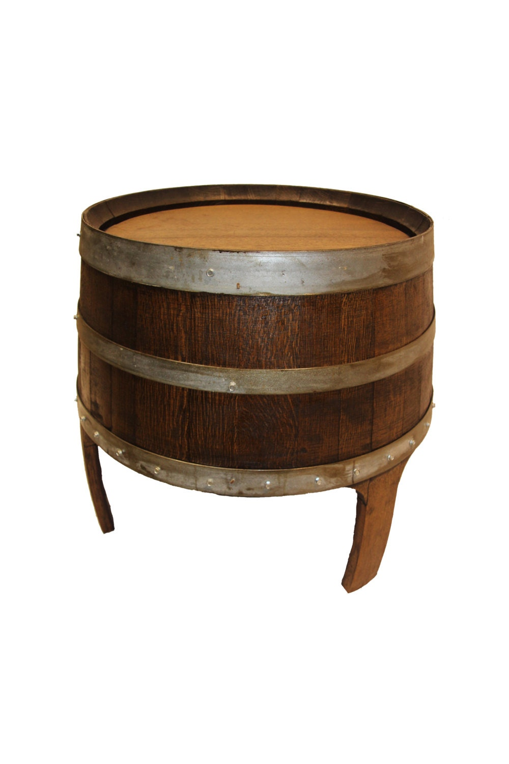 Wine Barrel Side Table Patio Table Outdoor Table End