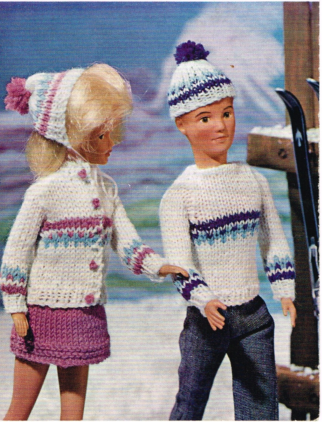 11 12 Dolls clothes knitting pattern. PDF