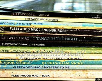 Fleetwood Mac Vinyl Album Photo. Vintage color or black and white