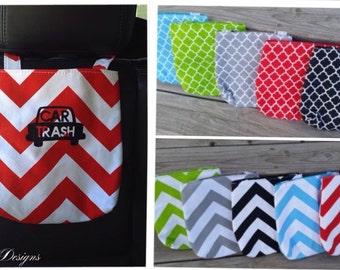 Chevron Car Trash Bag with Car Trash Design!