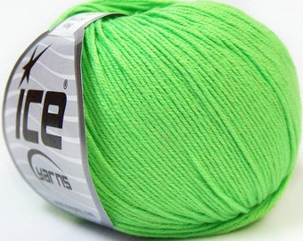 baby summer, light green, cotton yarn, ice yarn, cotton, acrylic, summer yarn, knit, crochet, soft cotton yarn