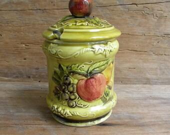 Vintage Geo Lefton Jam / Jelly Jar  4127