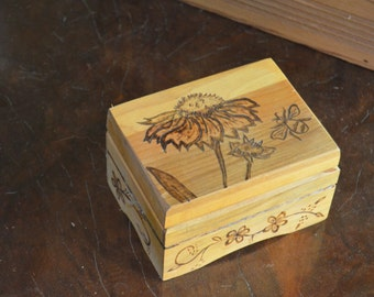 Handmade Wood Burned Box