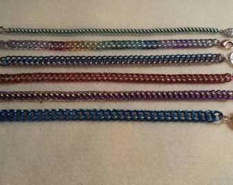 Half Persian Chain Maille Bracelets
