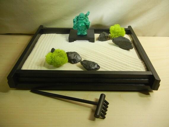 M 03jb Medium Desk Top Zen Garden With Jade Color Buddha And