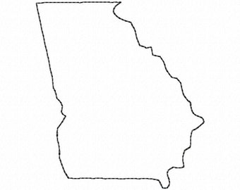 Pack Of 3 Square Georgia State Stencils Made From 4 Ply