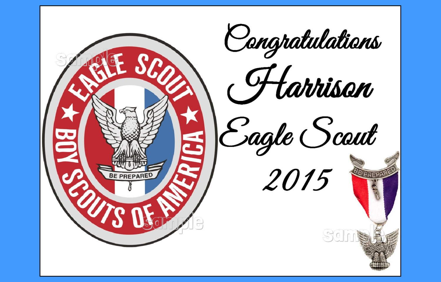 Eagle Scout Logo Eagle Scout Emblem Edible Image Cake Topper By Fairymomsedibles