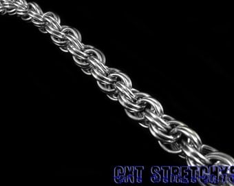 Chainmail Bracelet 316 Stainless Steel Kinged Spiral Weave