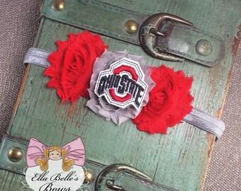 Ohio State Headband~ OSU buckeyes, baby girl, newborn, toddler