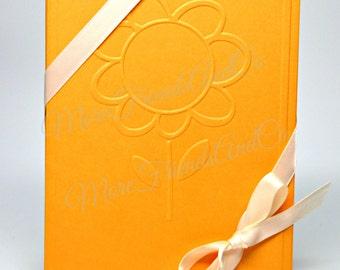 Sunflower Embossed Cards / Yellow Sunflower Note Cards / Set of 6 Flower Note Cards / Blank Note Cards