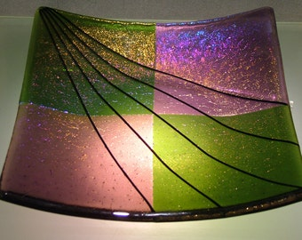 Multi layer fused glass plate