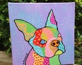 Bady- Boston Terrier Original Art on Canvas