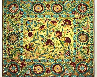 stunning large uzbek silk embroidery traditional suzani from bukhara g356