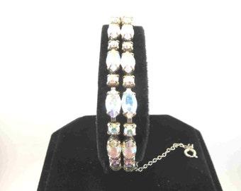 SHERMAN Double Row Aurora Borealis Bracelet