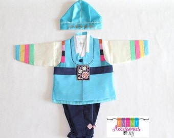 Traditional Boy's Hanbok (Dol Hanbok - 1st Birthday Hanbok) -FOR RENT-