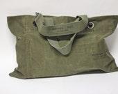 Medium Grommet Military Shoulder Tote // Canvas