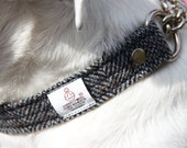 Harris Tweed half check collar - Herringbone, pet accessories, pet collar