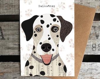 Dalmatian dog greetings card