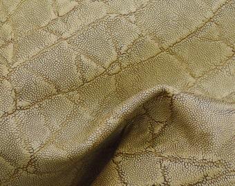 "Tan Leather Cow Hide 8"" x 10"" Pre-cut 2 1/2 ounces Elephant embossed TA-25101 (Sec. 4,Shelf 5,C)"