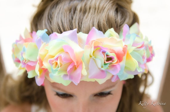 Rainbow Pastel Flower Crown